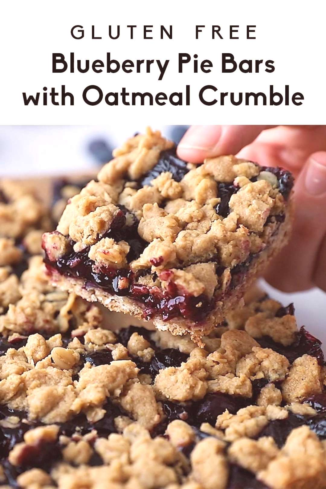 Incredible Gluten Free Blueberry Pie Bars with Oatmeal Crumble -   -
