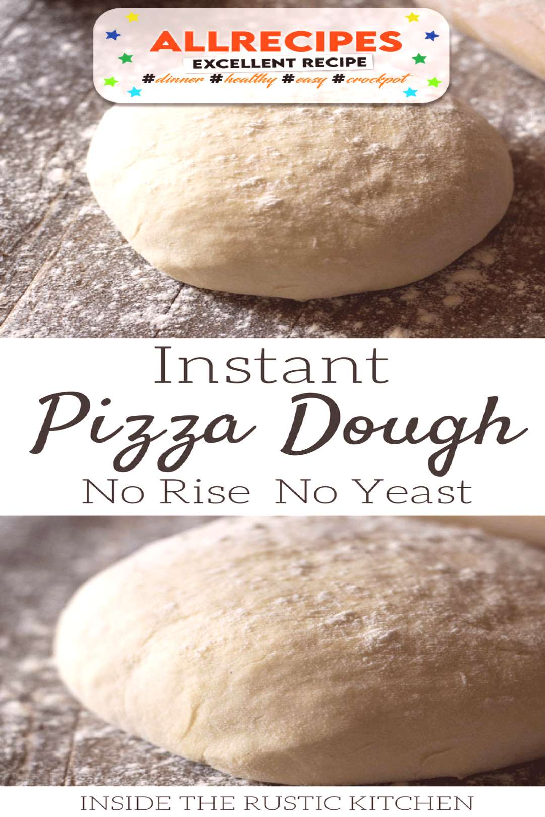 Instant Pizza Dough - No Rise No Yeast - - A thin and crispy instant pizza dough recipe that has no