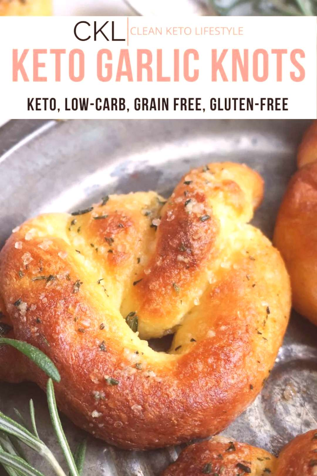 Keto Garlic Knots -  These Keto Garlic Knots with Rosemary are absolute perfection! Serve these in
