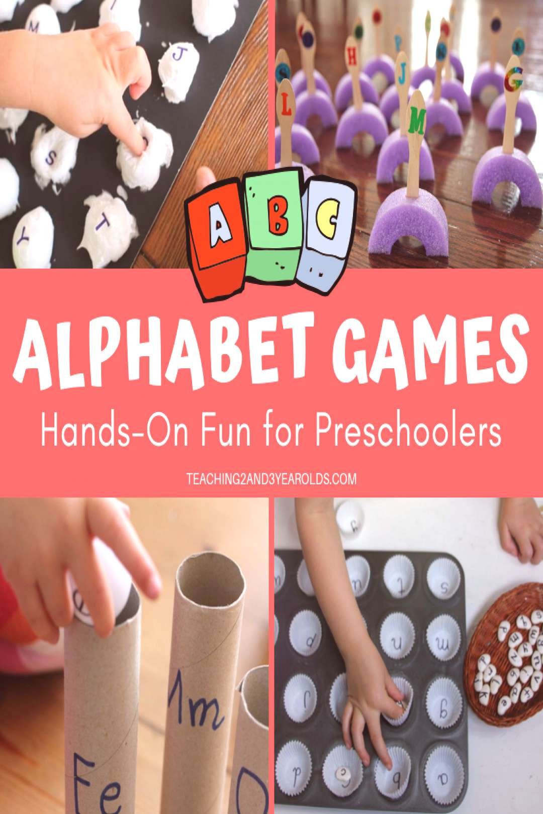 Looking for ways to work on the ABCs? These preschool alphabet games work on letter recognition and