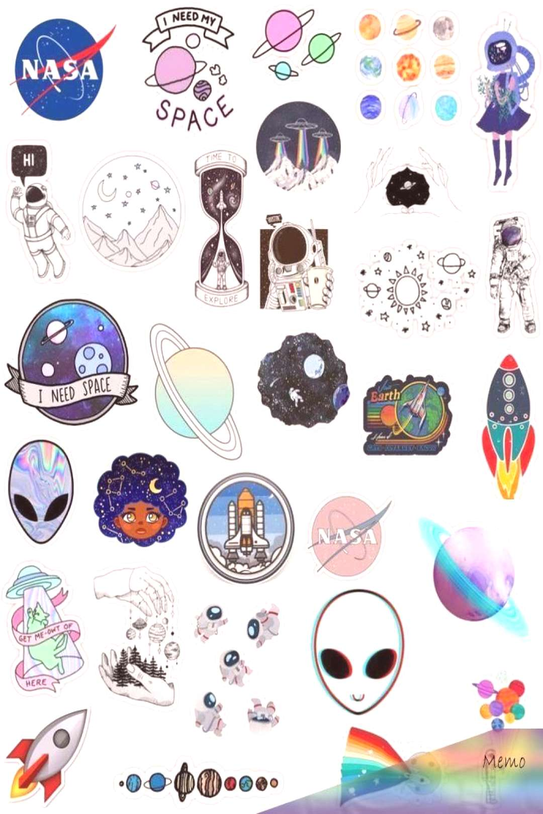 Mar 8, 2020 - Android Wallpaper – tumblr space sticker pack moon stars planets sun aliens ga