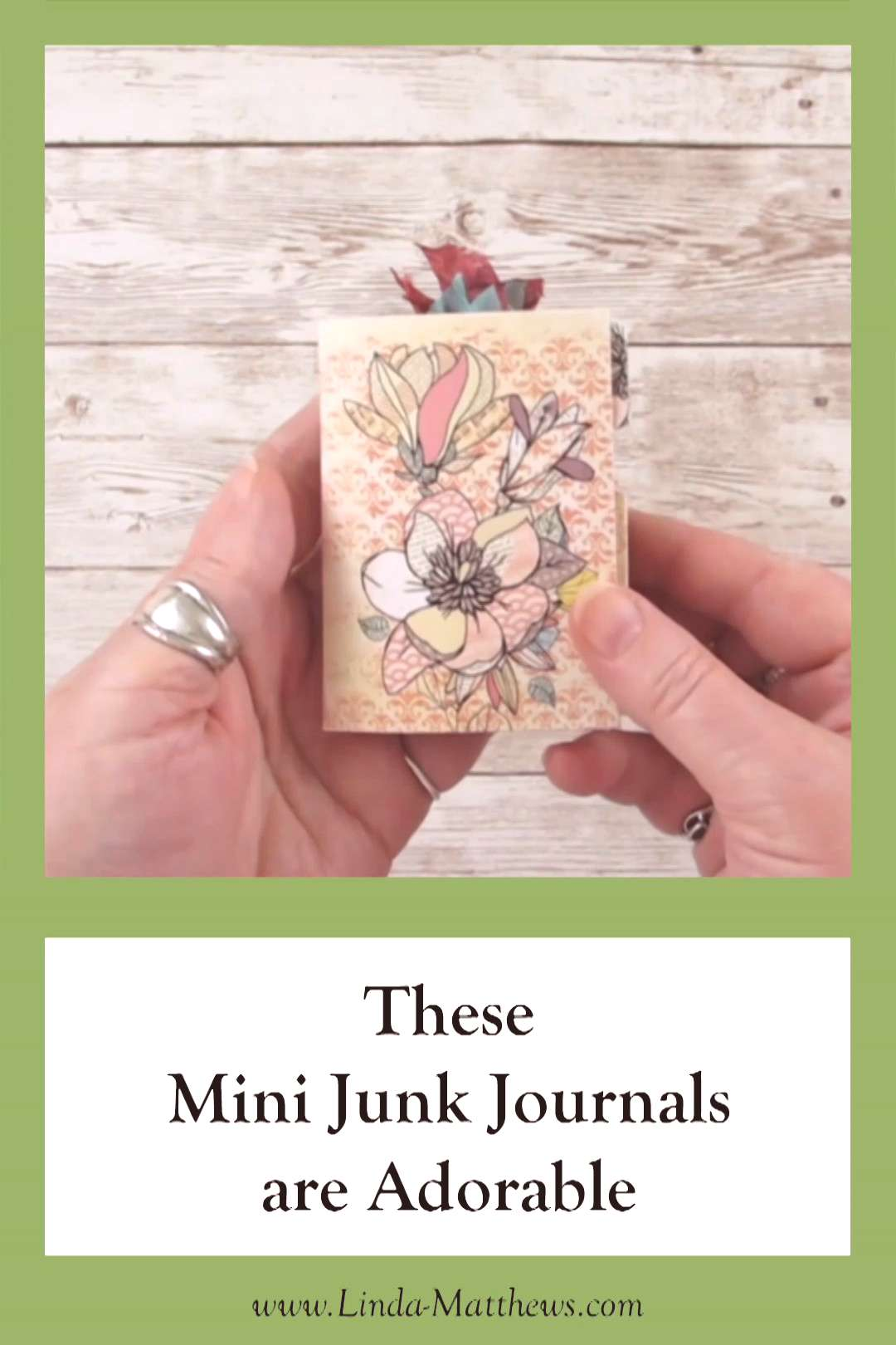 Mini Junk Journals Mini junk journals are fun and easy to make, and these printable mini-journals c