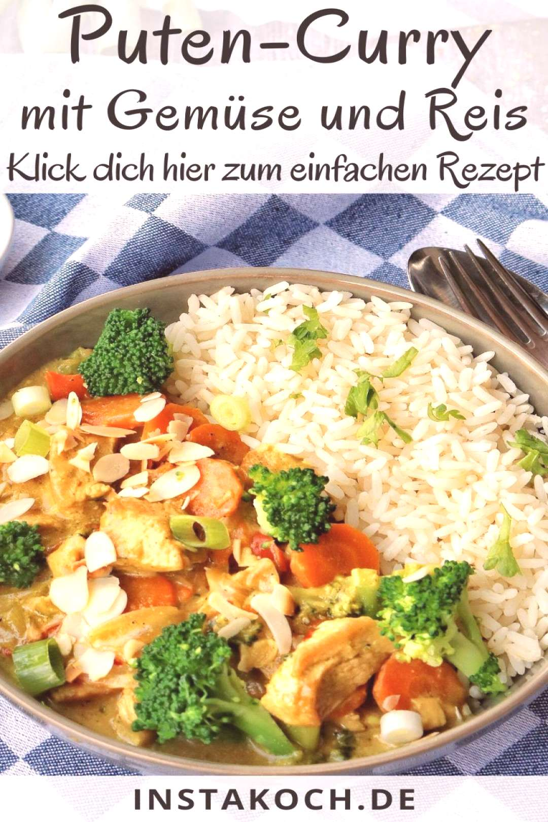 My simple recipe for turkey curry with broccoli, almonds and rice is a great ... - -