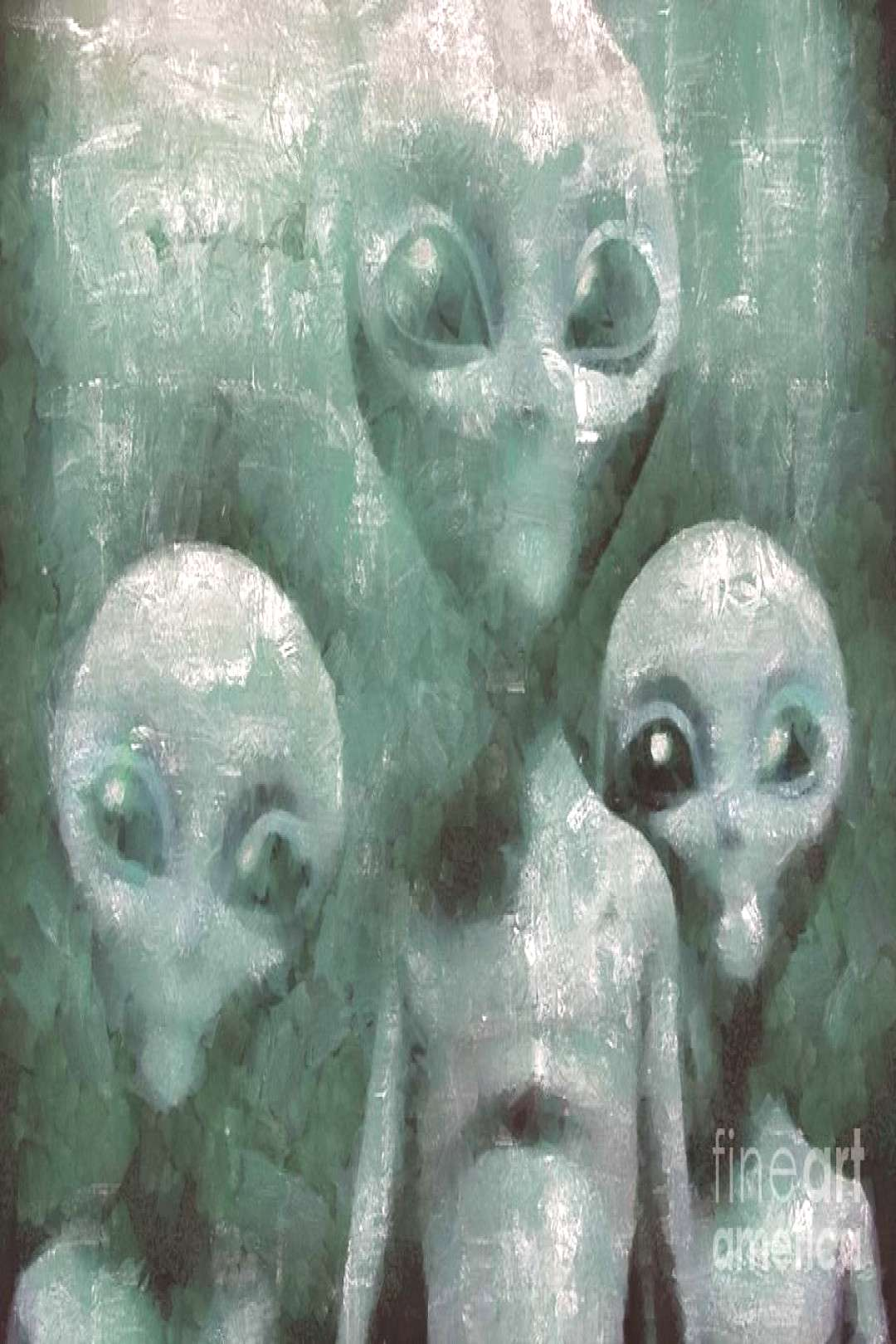 Painting - Aliens In The Mist by Esoterica Art Agency ,