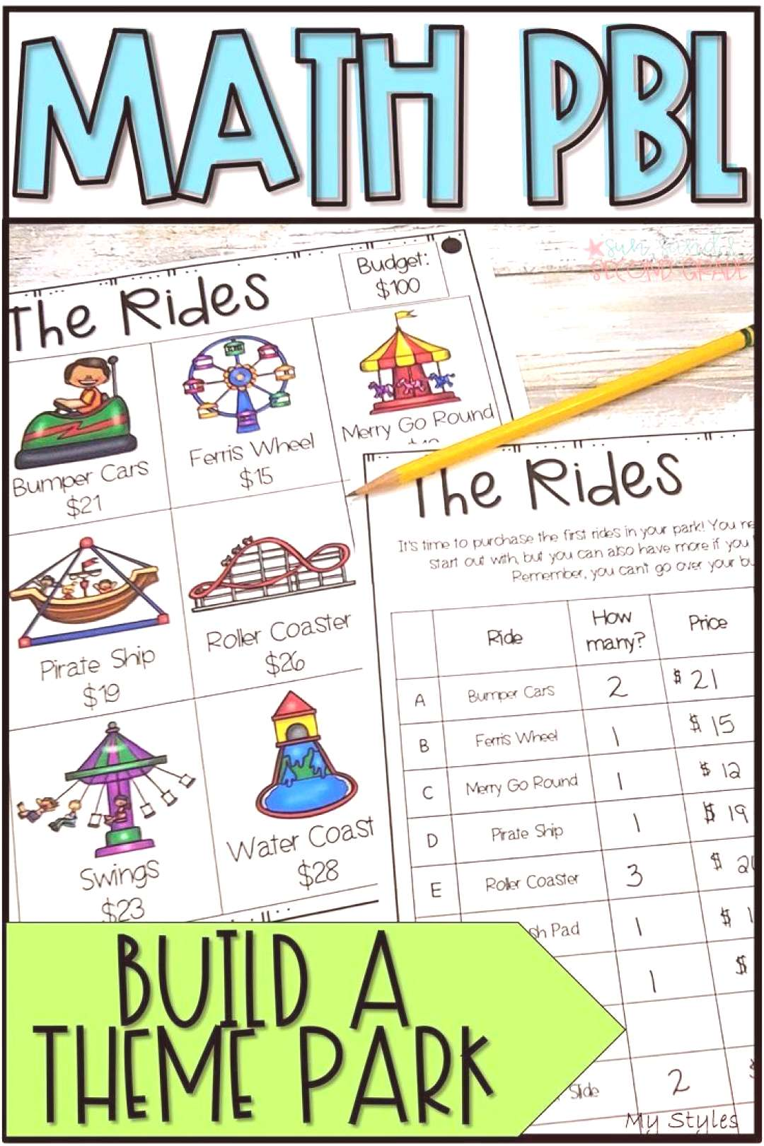 PBL Math Enrichment Project | Build a Theme Park Project Based Learning