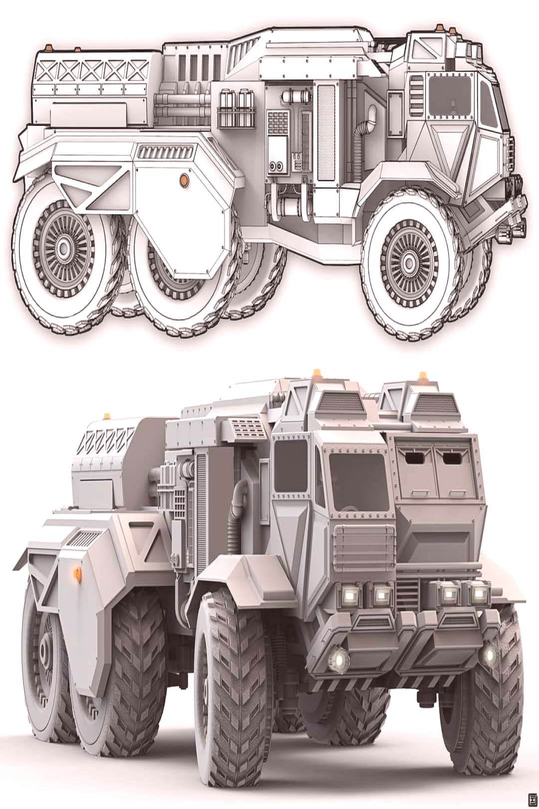 Planetary Utility Truck I was inspired to create this one after watching recently. I've always love