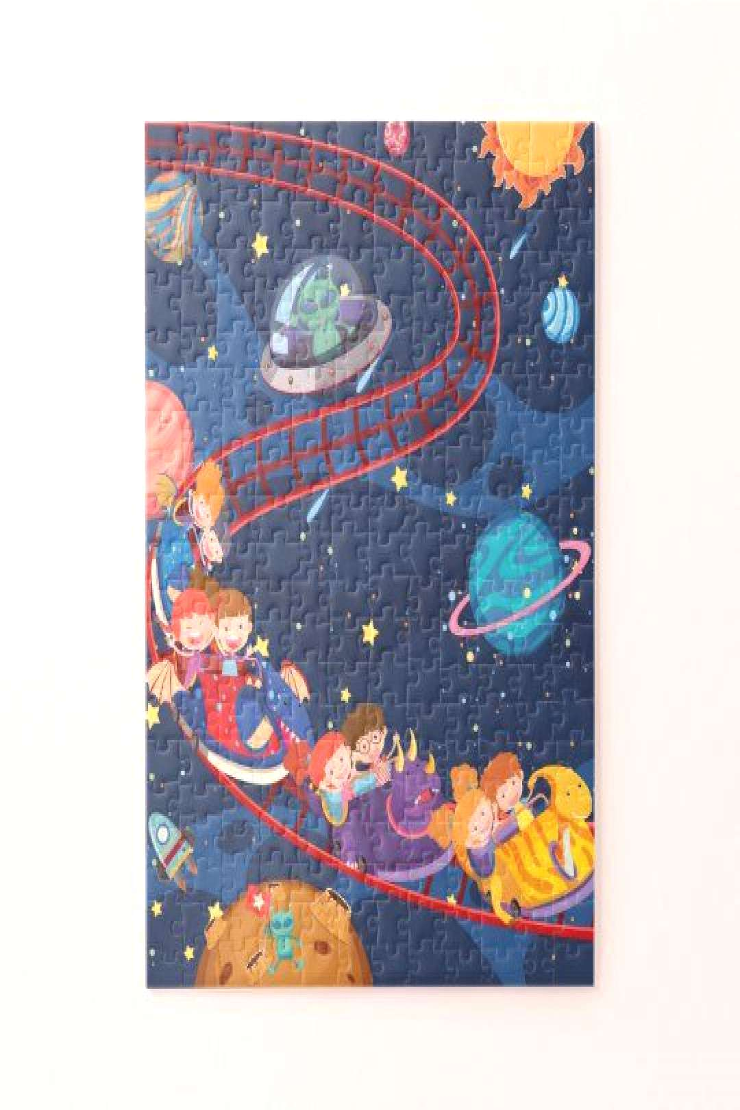 Roller Coaster Space Adventure Galaxy Aliens Jigsaw Puzzle Roller Coaster Space Adventure Galaxy Al