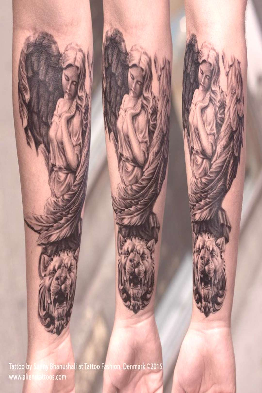 Roman Angel Tattoo by Sunny Bhanushali from Aliens Tattoo. Client wanted a full ... -  Roman Angel