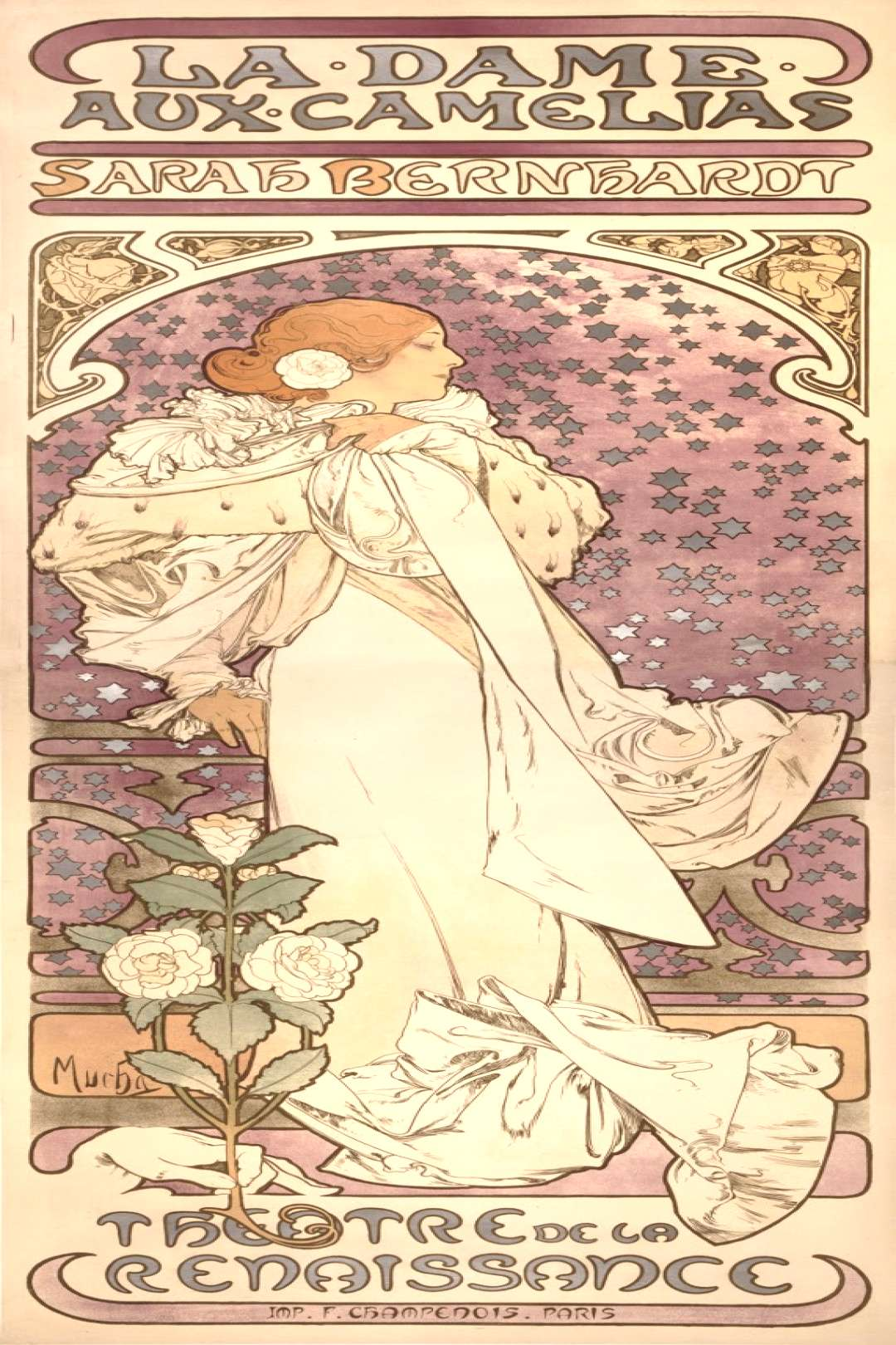 Sarah Bernhardt offered Alphonse Mucha a six-year contract to create costumes, backgrounds, props,