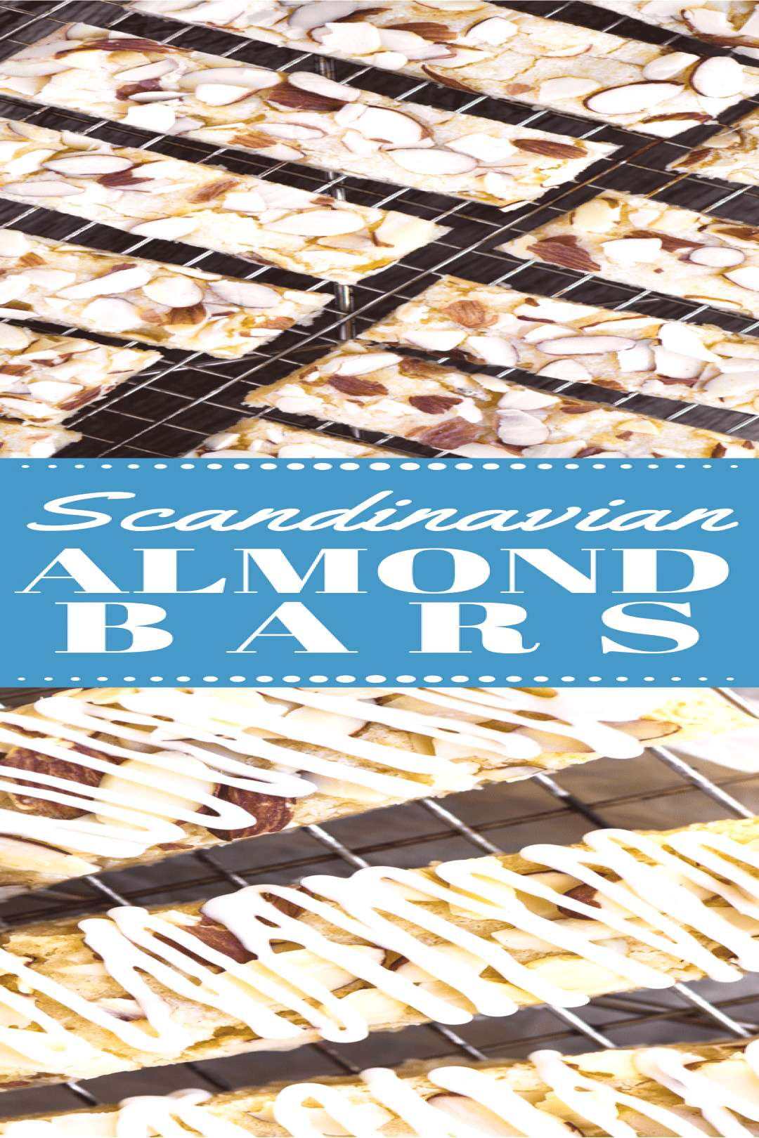 Scandinavian Almond Bars are soft, chewy shortbread bars jam packed with almond flavor ~ they freez