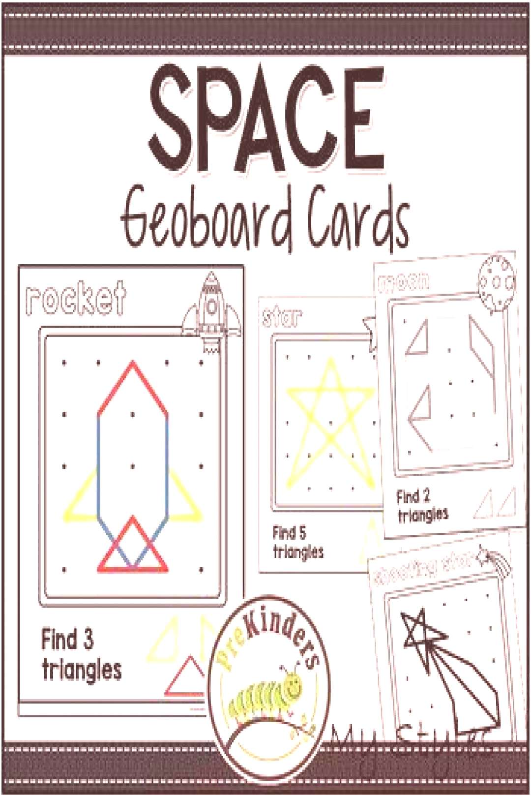 Space Geoboards: Shape Activity for Pre-K MathYou can find Algebra and more on our website.Space Ge