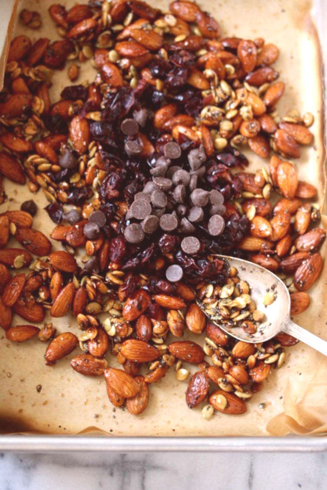 Super Seedy Trail Mix with Almonds, Chia, and Cranberries -