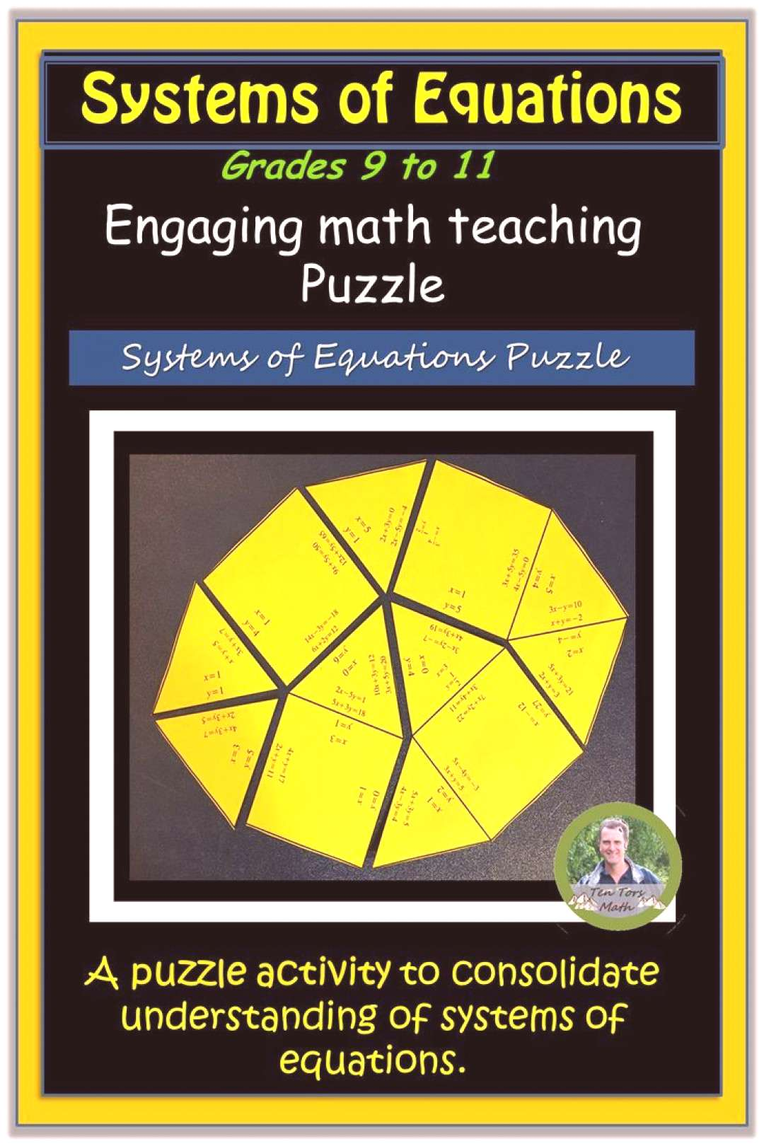 Systems of Equations Puzzle Activity Solving Systems of Equations Puzzle. Classroom math resource a