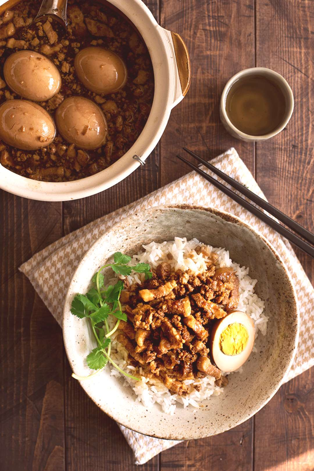 Taiwanese Braised Pork Over Rice (Lu Rou Fan) | Curious Nut -   -