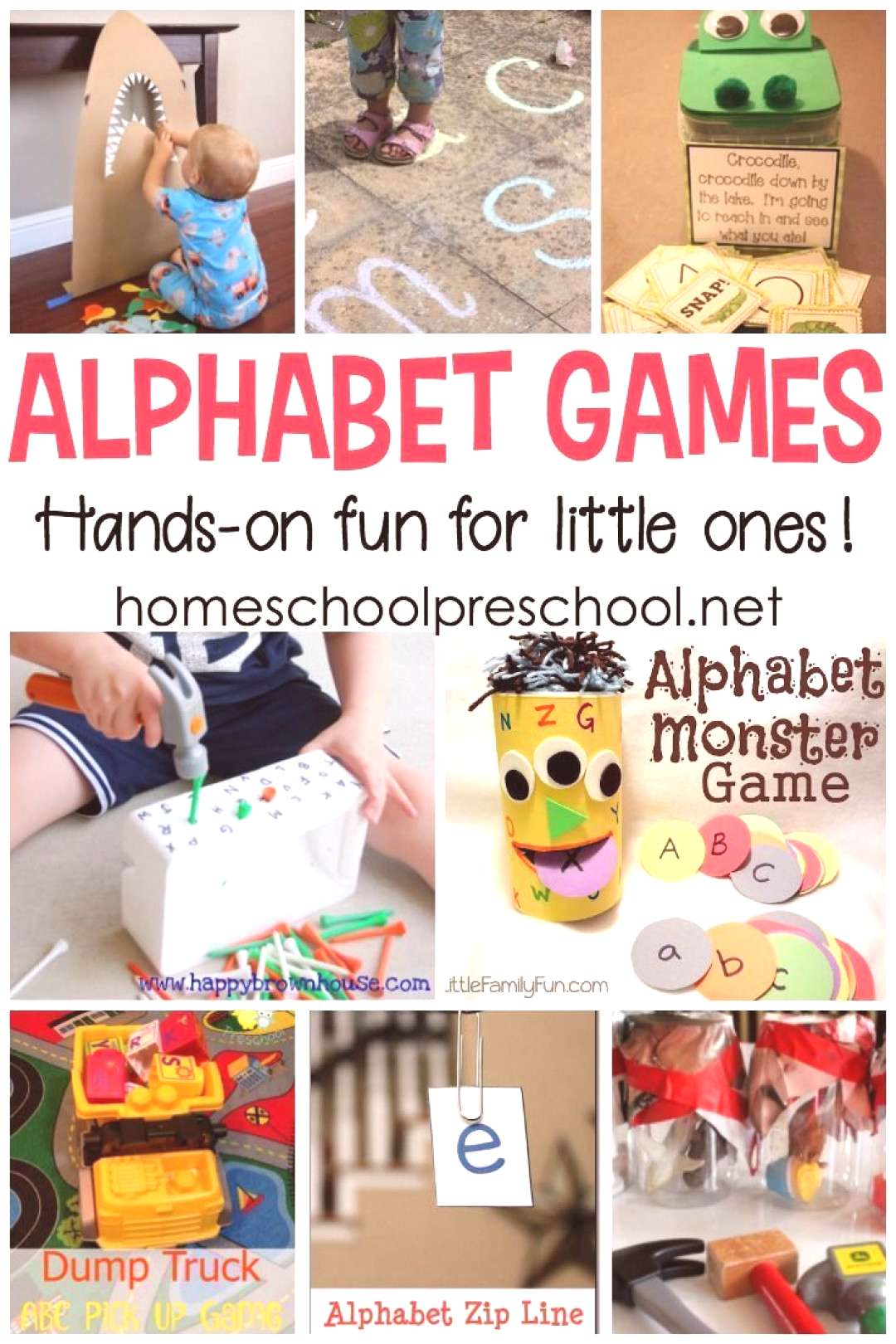 These hands-on alphabet games for preschoolers are perfect for teaching letter recognition, ABC ord