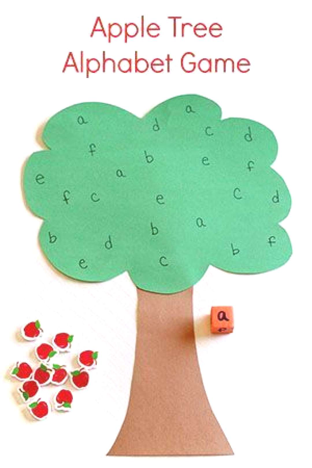 This apple tree alphabet game is a great way to practice letter identification while developing fin