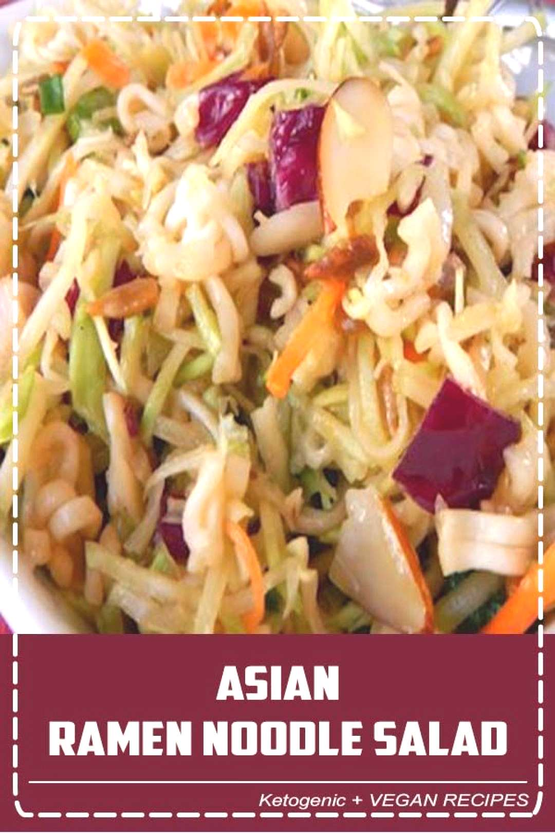 This Asian Ramen Noodle salad takes 20 minutes to whip together and can be made the night before. E