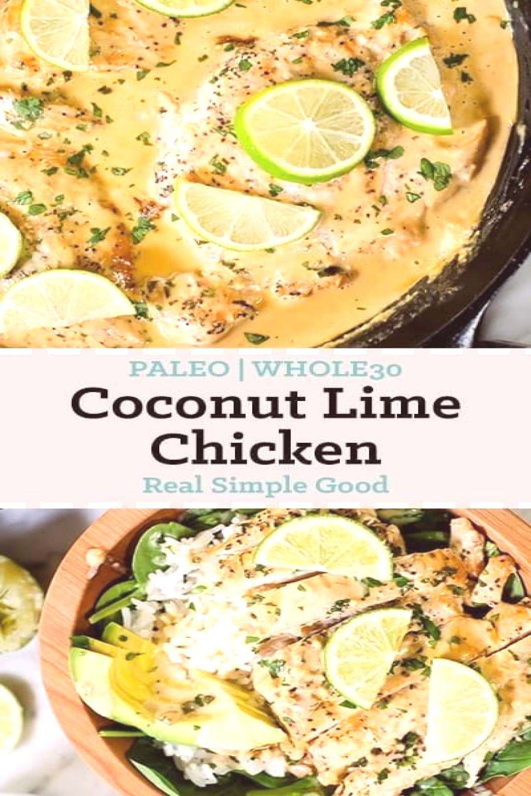 this COCONUT LIME CHICKEN is so yumm!! You must see the complete recipes.