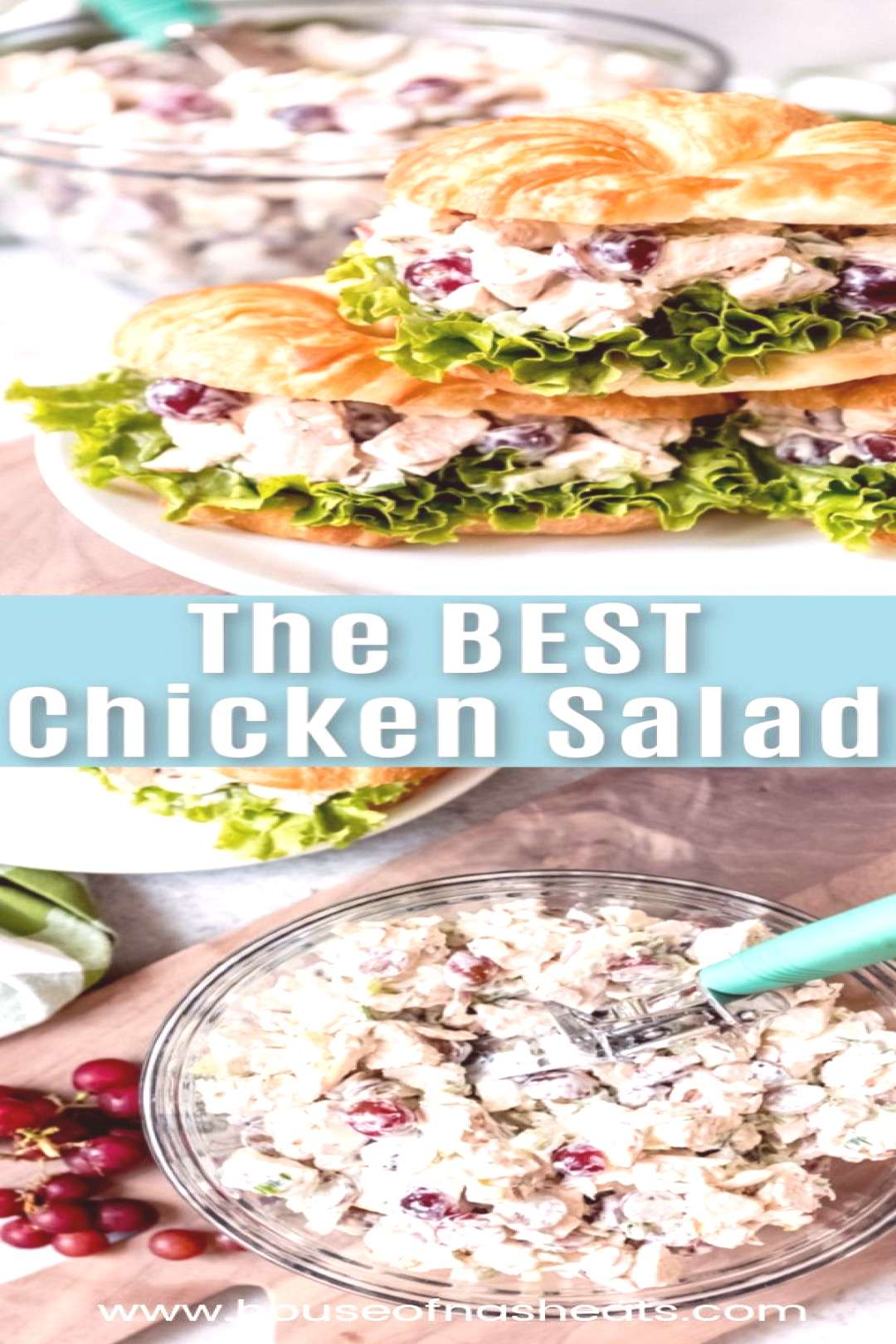 This easy, classic Chicken Salad recipe with grapes and sliced almonds is the best I've ever had an