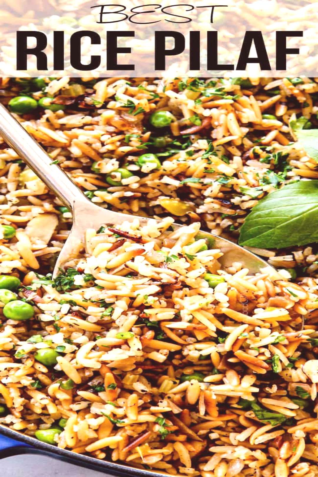This Rice Pilaf is my favorite side dish EVER!  It's a delectable one-pot wonder that that's ho