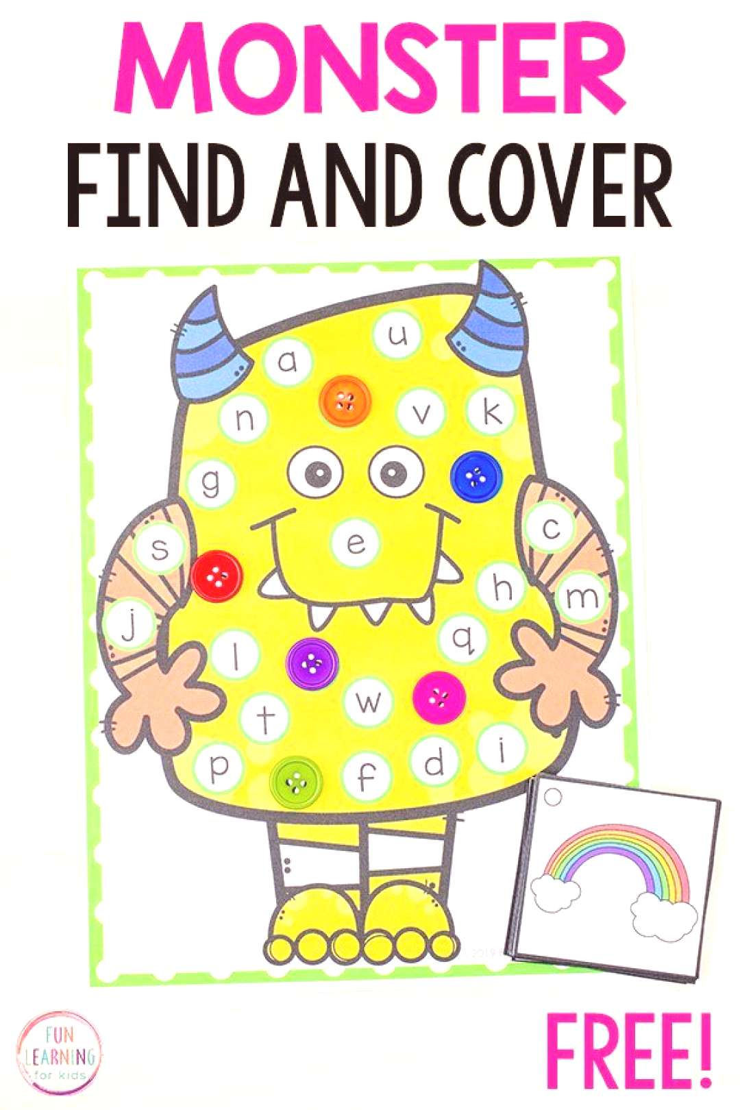 This silly monster find and cover the letter alphabet activity is perfect for literacy centers in p