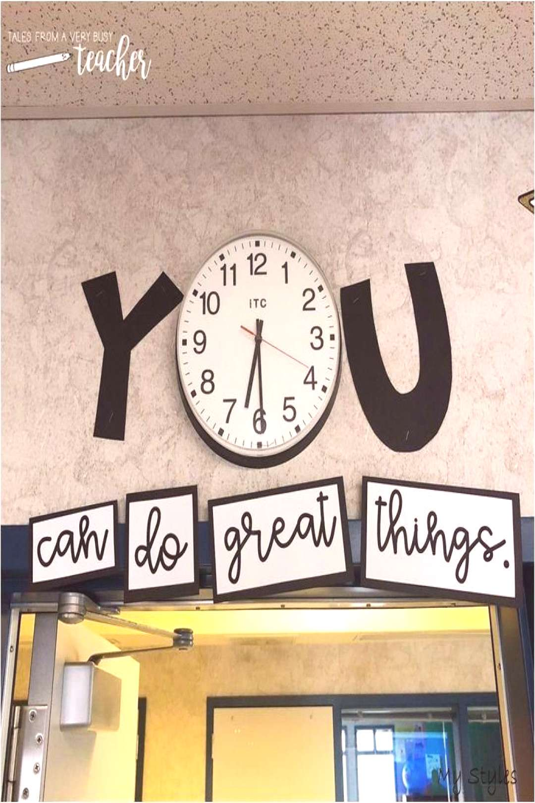 Title for Your Classroom Clock You can do great things! | Classroom clock, Middle school classroom