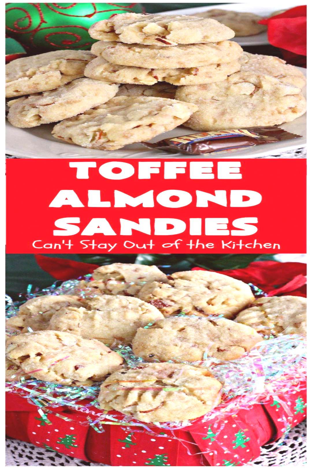 Toffee Almond Sandies | Can't Stay Out of the Kitchen | these irresistible are filled with & They a