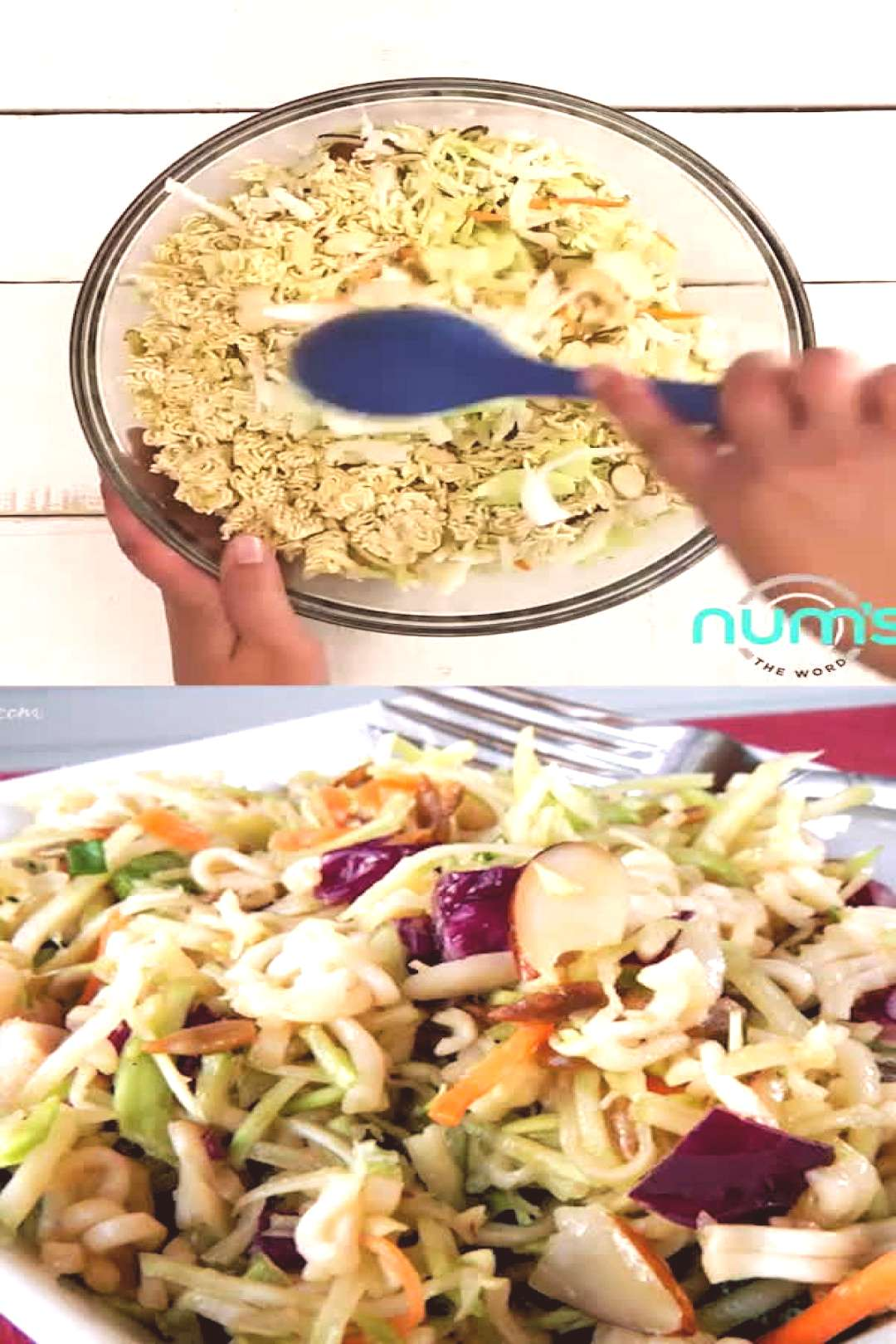 *VIDEO* This Asian Ramen Noodle salad takes 20 minutes to whip together and can be made the night b
