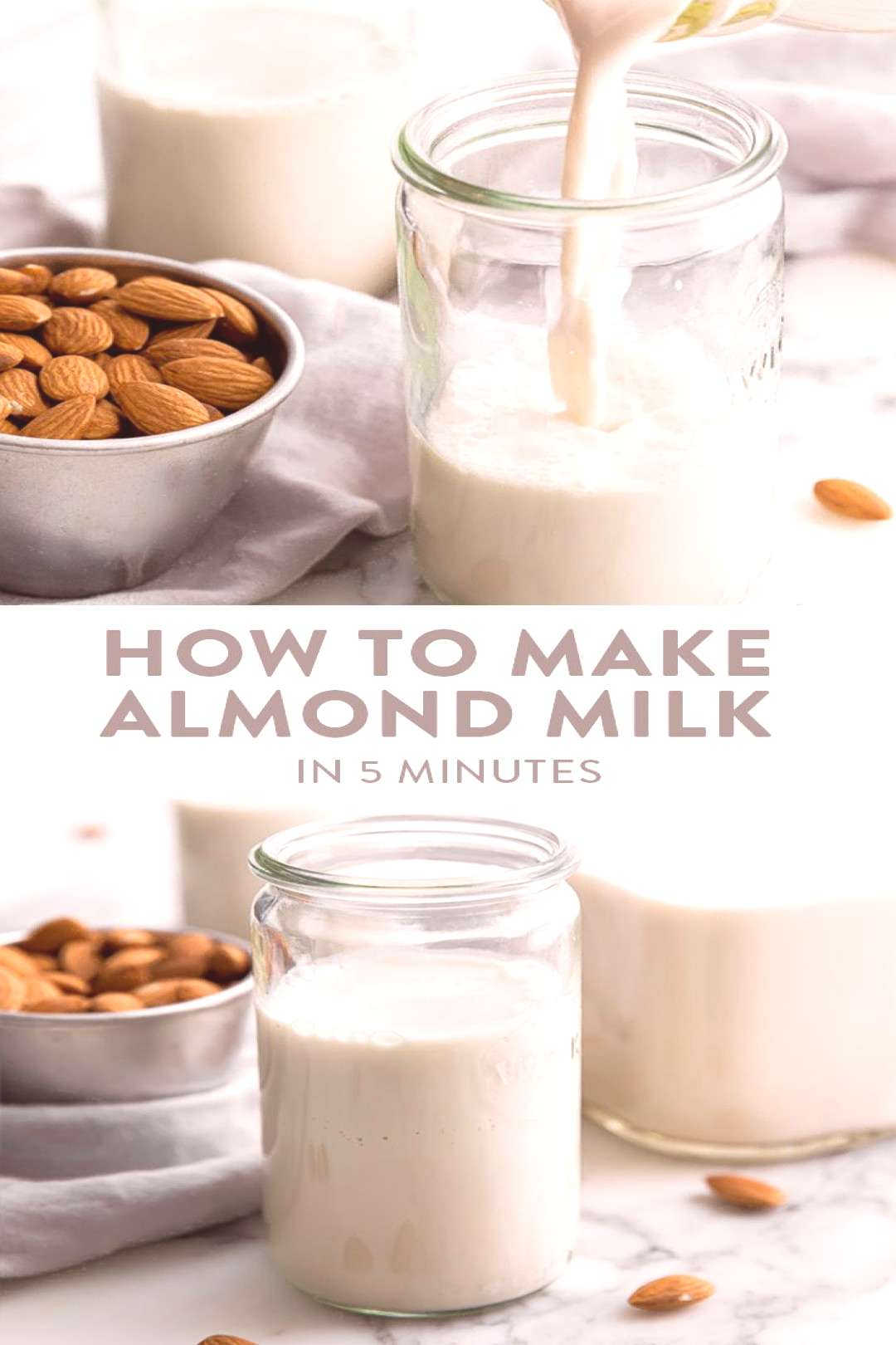 Want to learn how to make almond milk? You only need 5 minutes, a couple ingredients, and a high sp