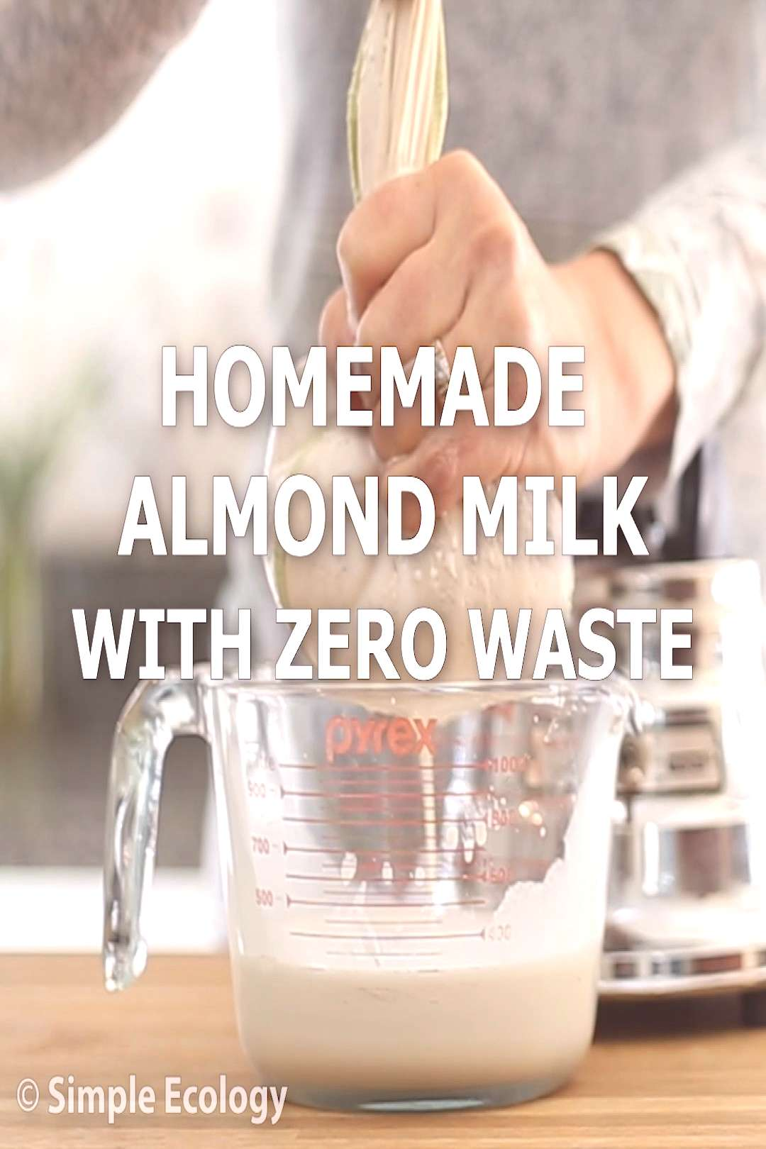 Zero Waste Almond Milk Almond milk (and other non-dairy alternatives) have become hugely popular in