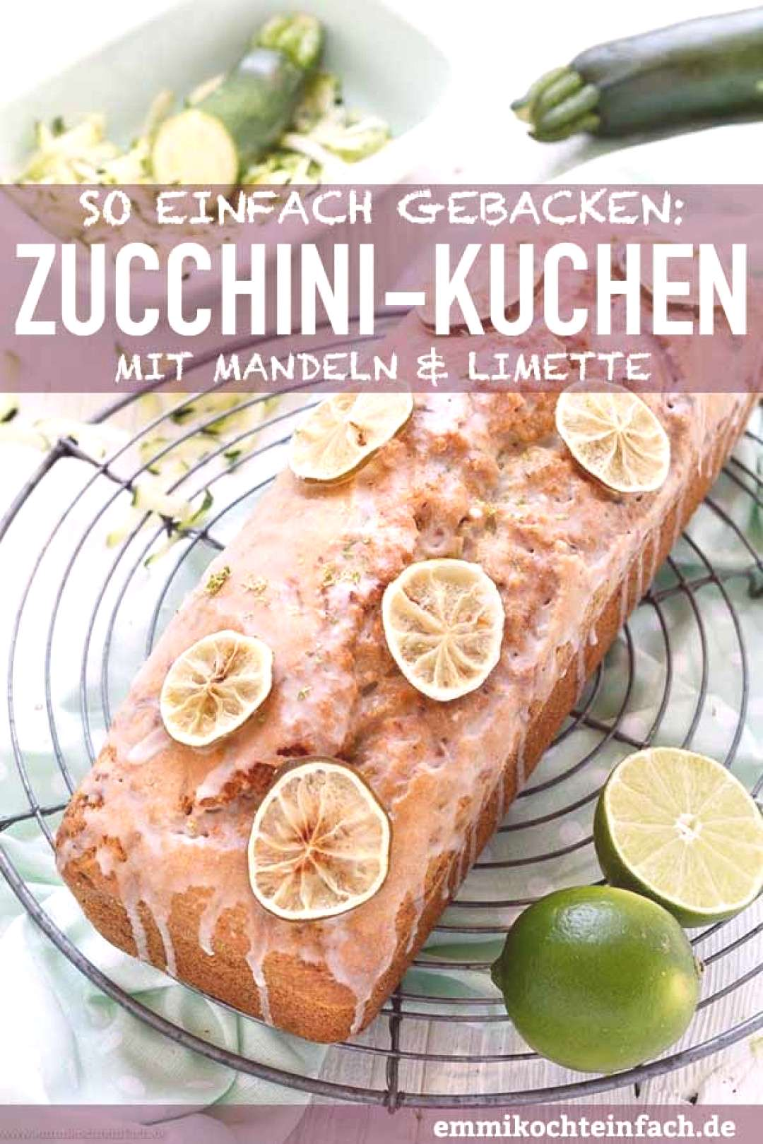 Zucchini cake with almonds and lime - easy to cook - -